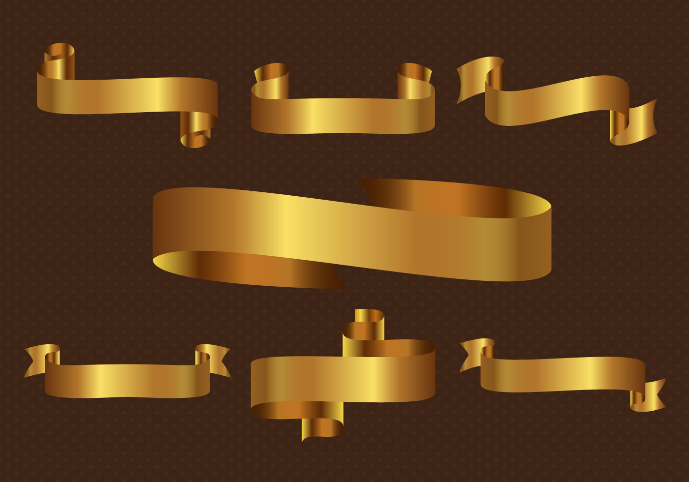 gold ribbon free vector art 6507 free downloads
