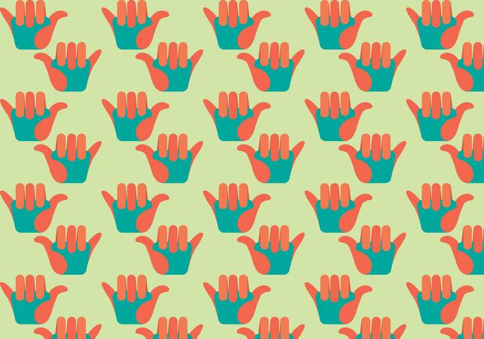 Free Shaka Flat Design Vector Pattern Illustration