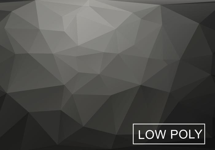 Gray Low Poly Background Vector
