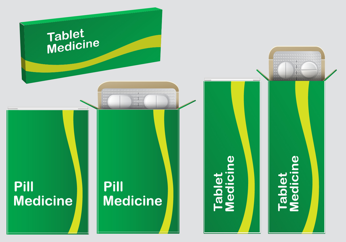 Green Pill Box Vectors Download Free Vector Art Stock