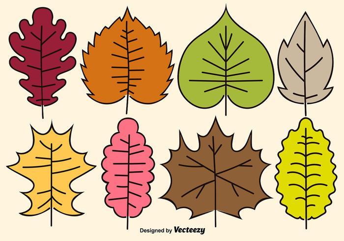 Cartoon Vector Leaves