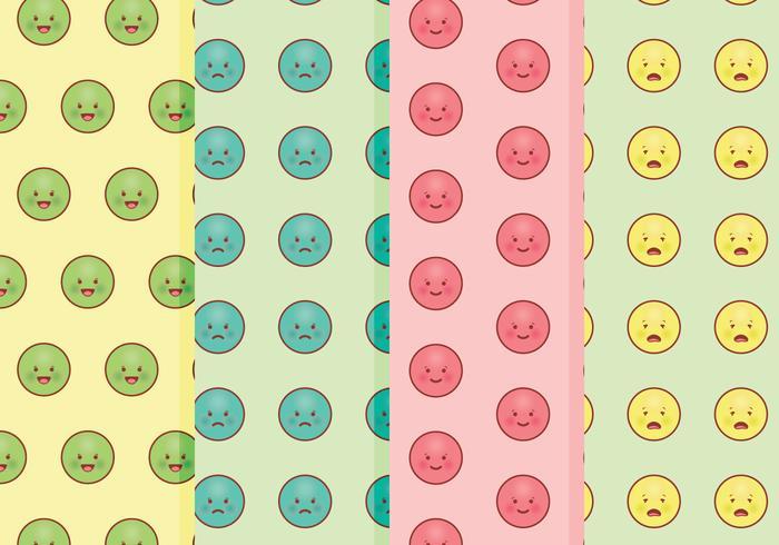 Padrões de Emoticons de vetores