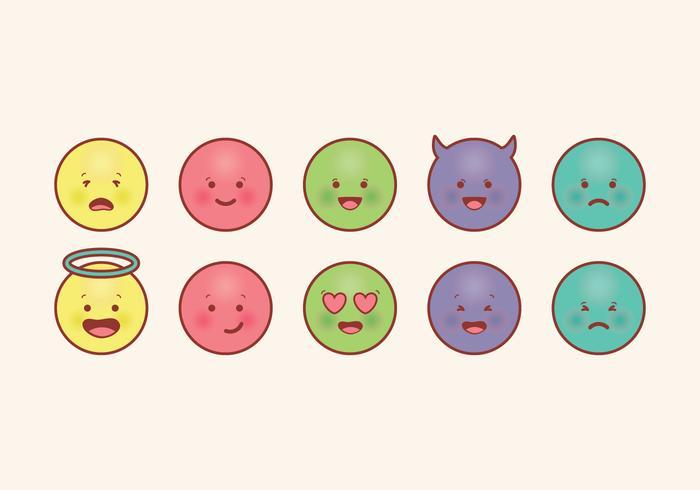 Emoticones del vector