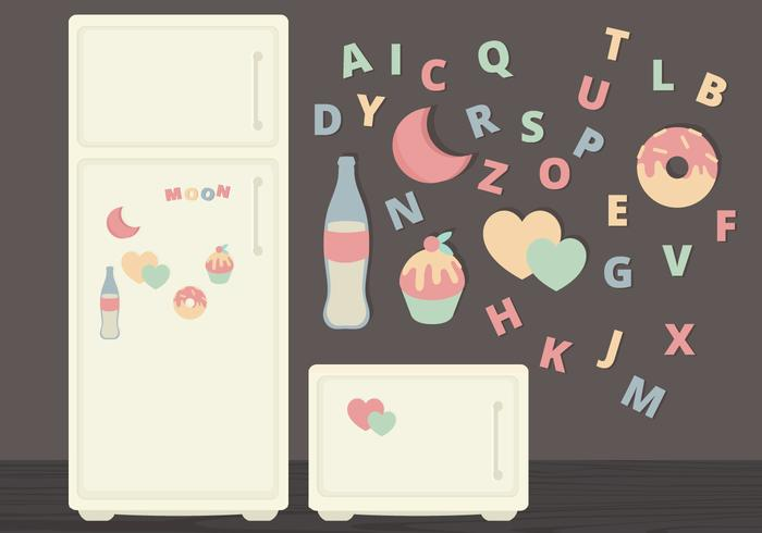 Vector Fridge Magnets Illustration