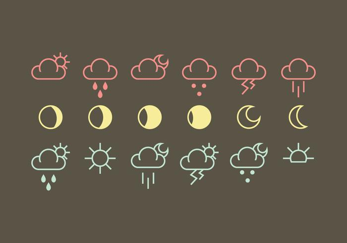 Vector Weather Icon Vectors