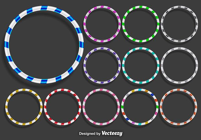 Vector Hula Hoops Icons Set