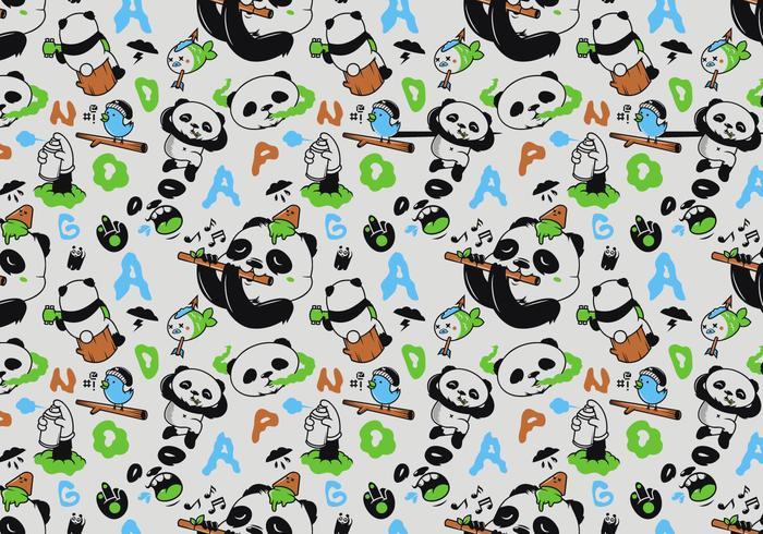 Padrão de Panda sem costura de vetor
