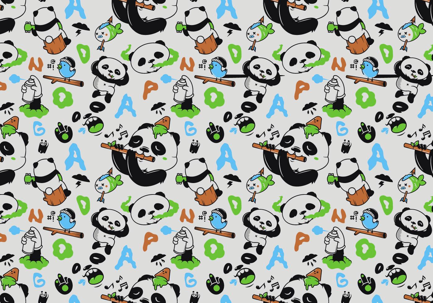 Vector Seamless Panda Pattern - Download Free Vector Art ...