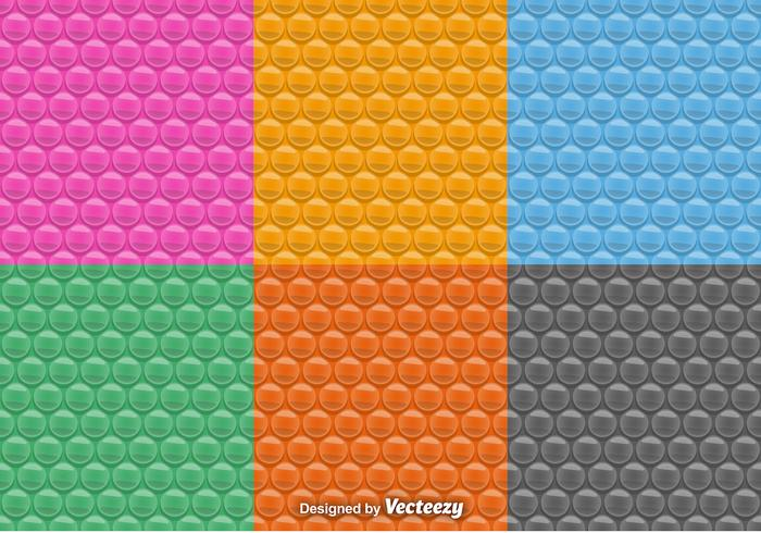 Vector seamless pattern of bubble wrap set