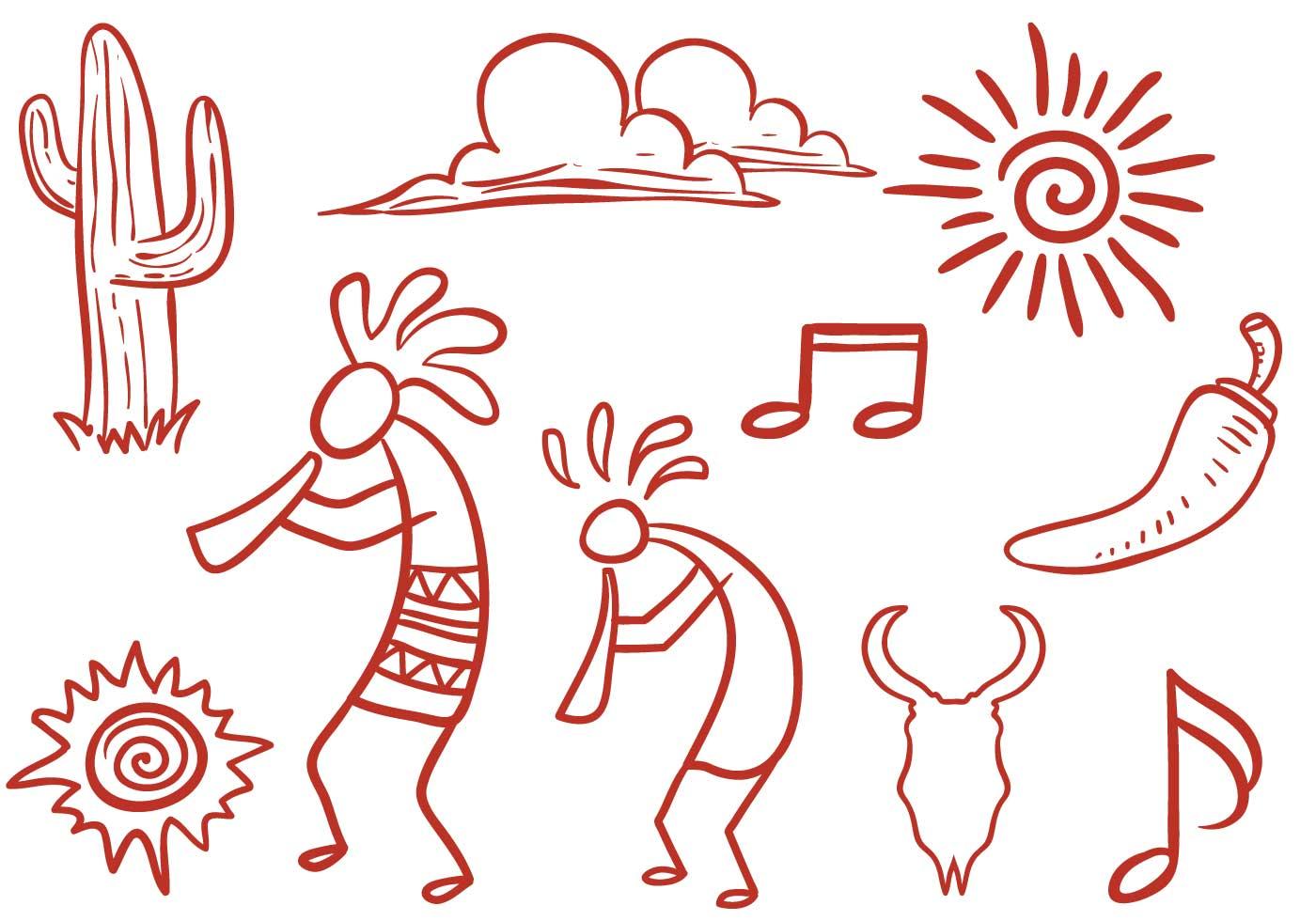 free southwestern symbols vectors download free vector kokopelli clip art png kokopelli clipart