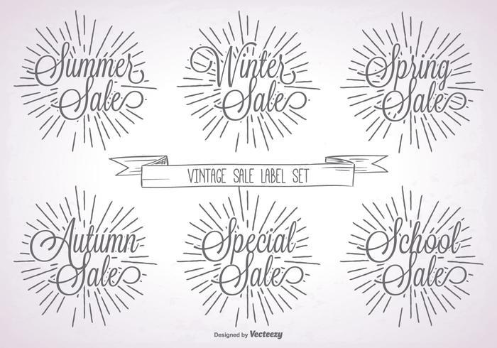 Promotional Vintage Label Set