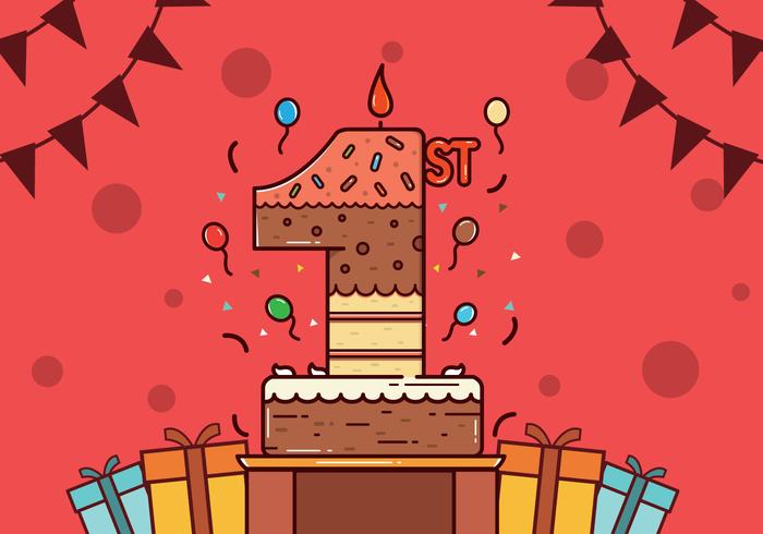 Free 1st Birthday Vector