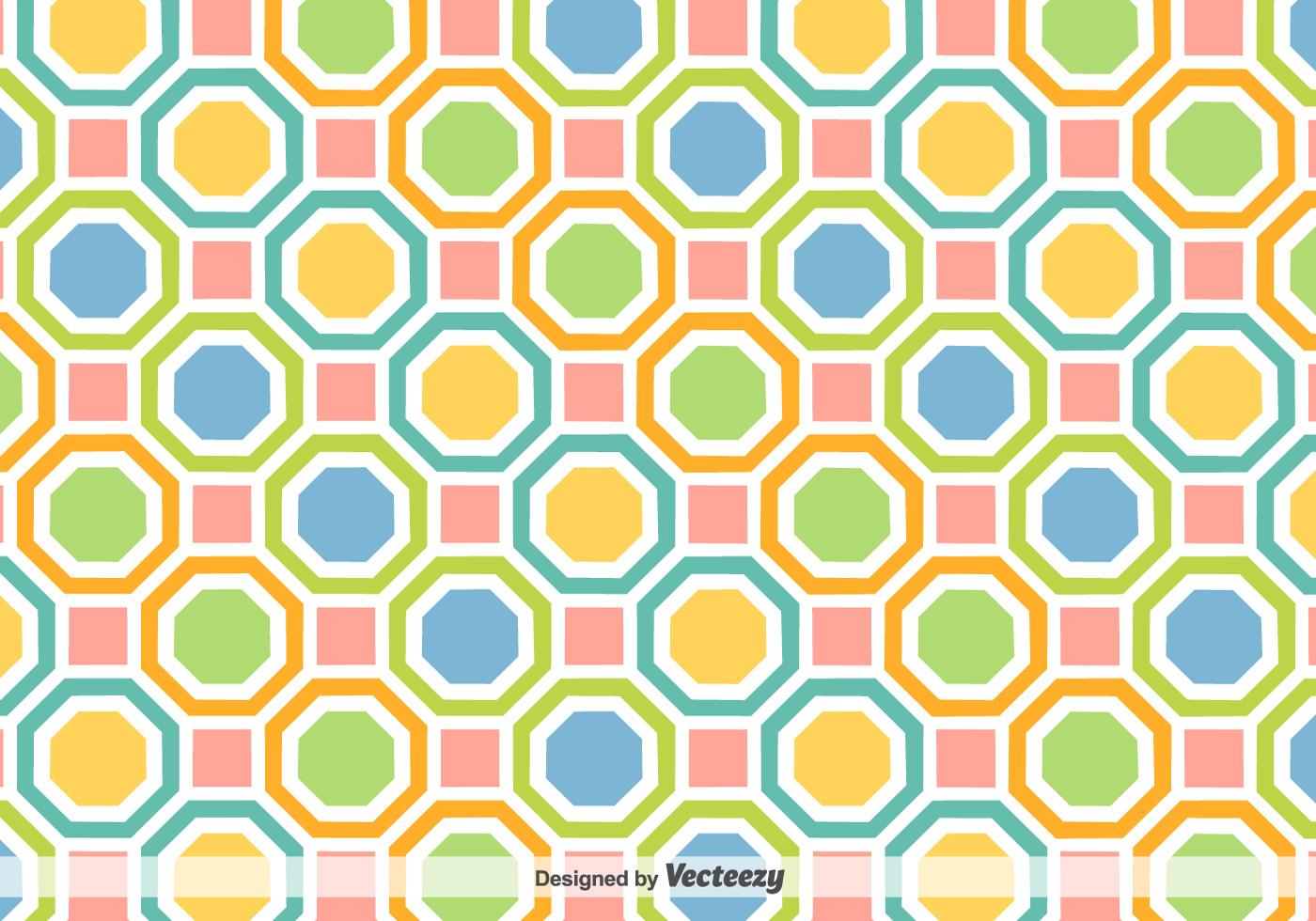 Vector De Fondo Con Figuras Geométricas De Colores