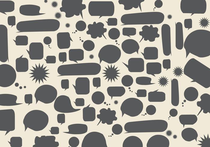 Speech Bubbles Background Vector