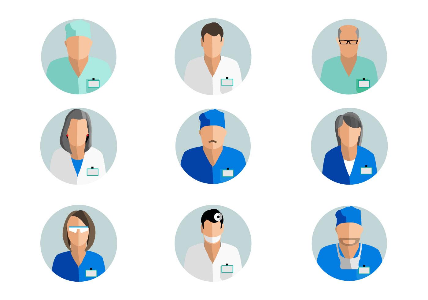 Free doctor avatar vector download free vector art for Clipart gratis download