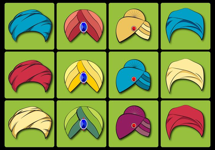 Turban Vector Set