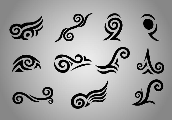 Free Maori Koru Tattoo Vectors