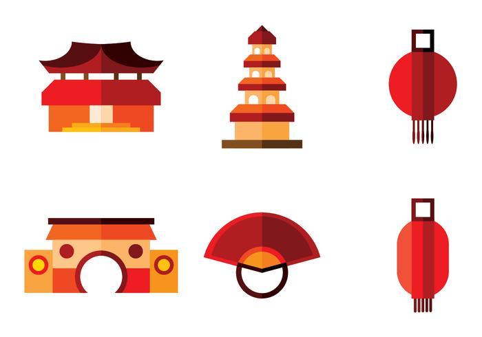 vettore di città cinese