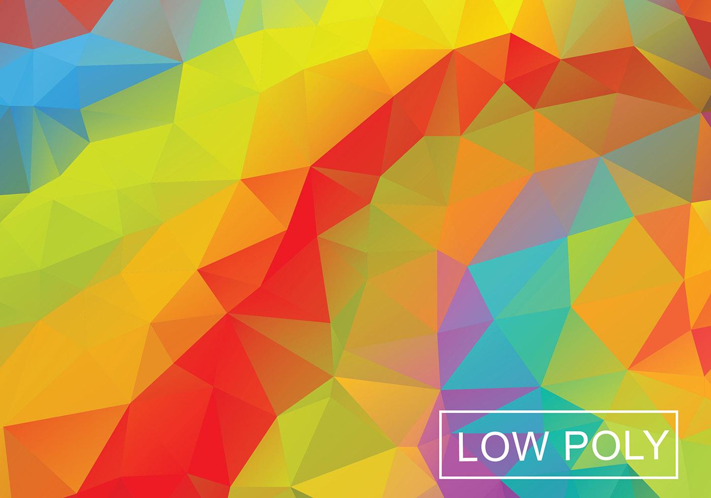 Fondo Geométrico: Geometric Orange Polygonal Vector Background