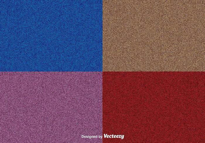 Vector Denim Texture Background Set