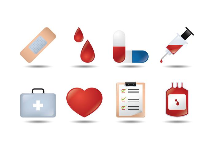 Vetores médicos de ícones 3D