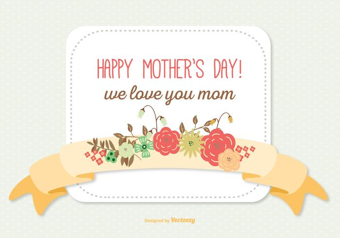 Cute Mother's Day Illustration
