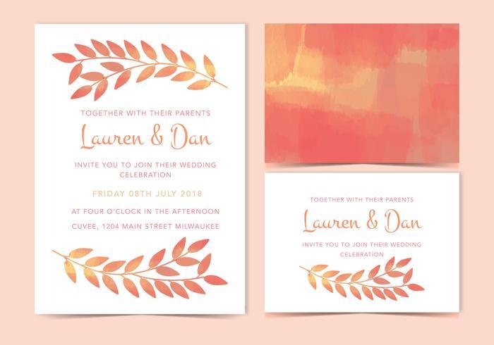 Vector Wedding Invite