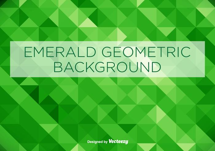 Emerald Green Geometrical Vector Background