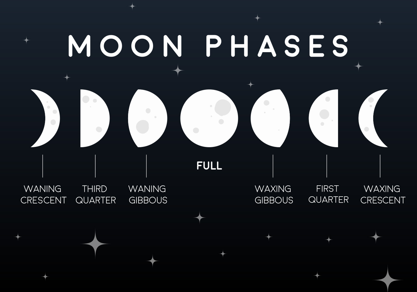 Vector Flat Moon Phases Icons - Download Free Vector Art, Stock ...
