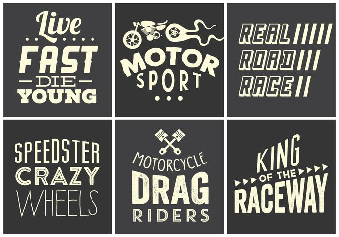 Vintage Race Typography Collection