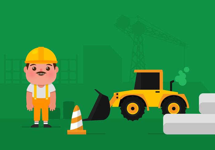 Trabajador De La Construcción Del Vector