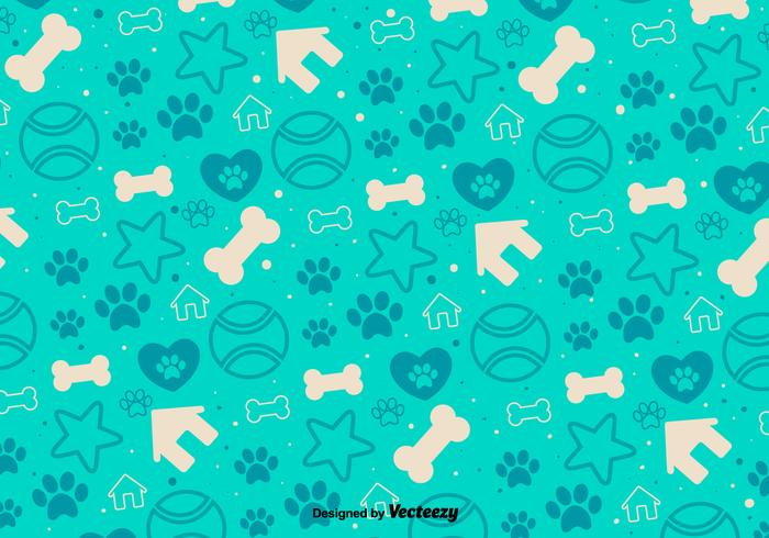 Vector Background With Decorative Puppy Icons
