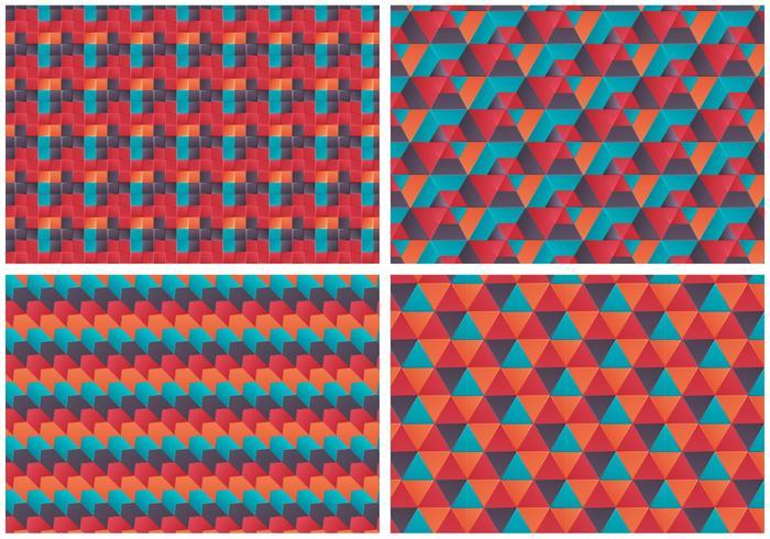 Conjunto de padrões de Bauhaus de vetores grátis