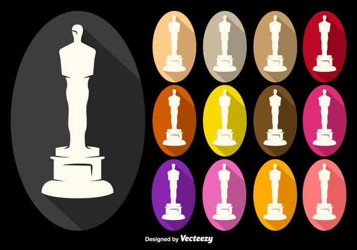 Vector Oscar Statuette Icons Collection
