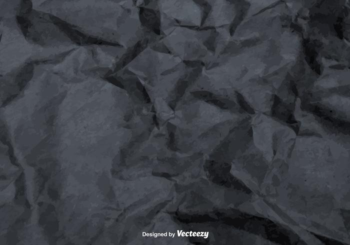 Vector Gray Crumpled Paper Texture