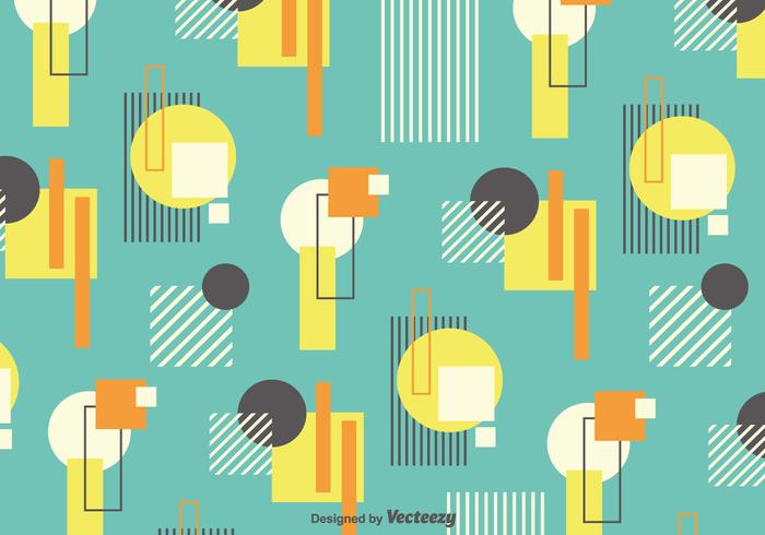 Vector Background With Retro Bauhaus Style Forms