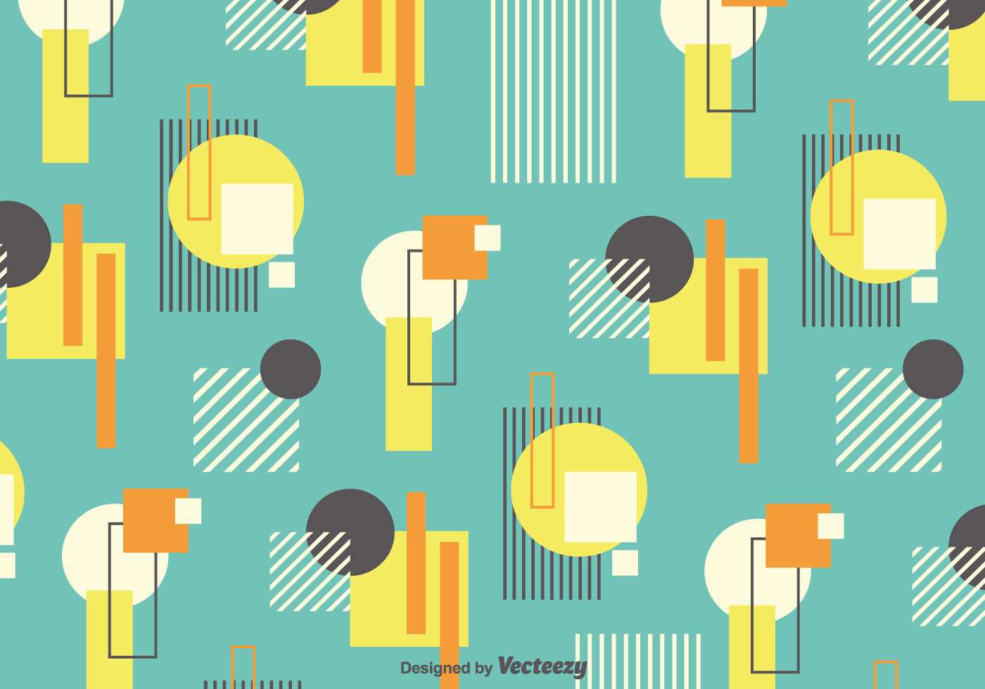vector background with retro bauhaus style forms download free vector art stock graphics images. Black Bedroom Furniture Sets. Home Design Ideas