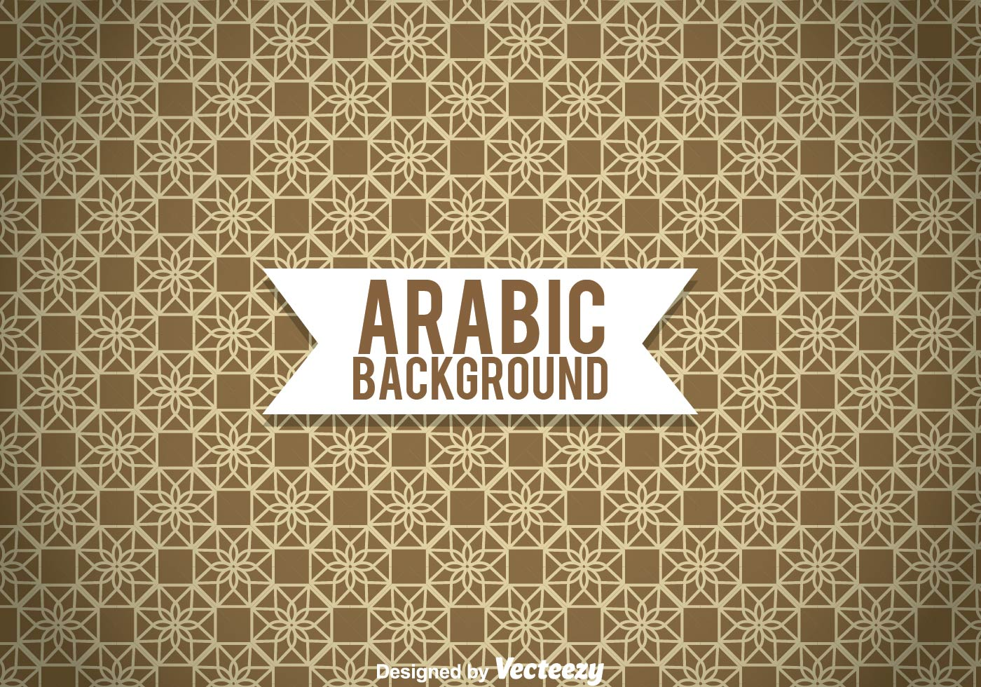 arabic ornament brown background download free vector