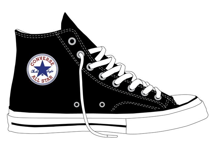 converse shoes clip art black and white abstract background
