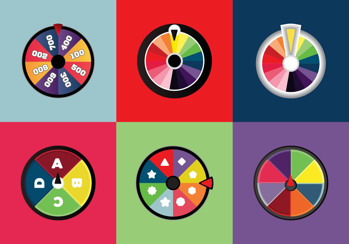 Free Spinning Wheels Vector Download Free Vector Art
