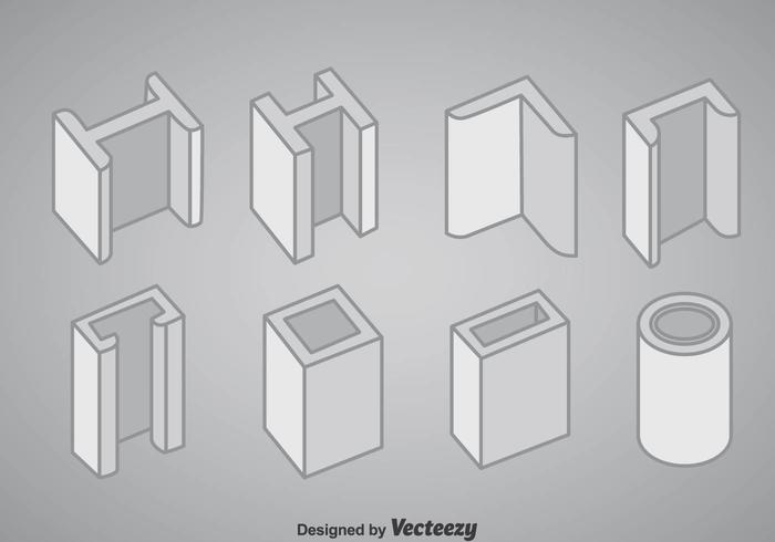 Steel Structure Icons Vector