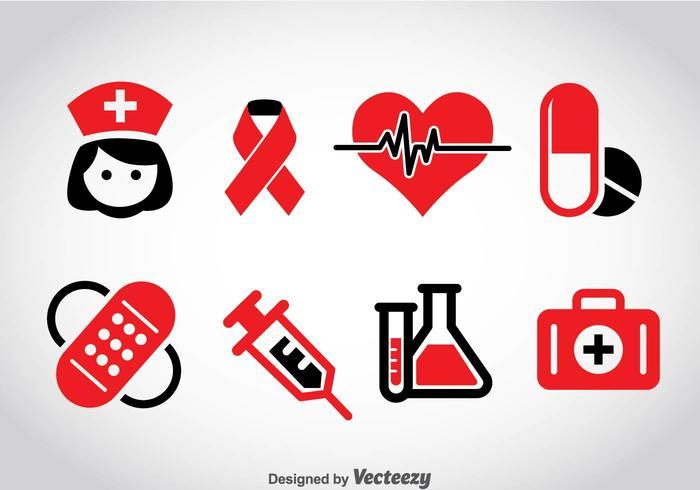 Medicinska ikoner Vector
