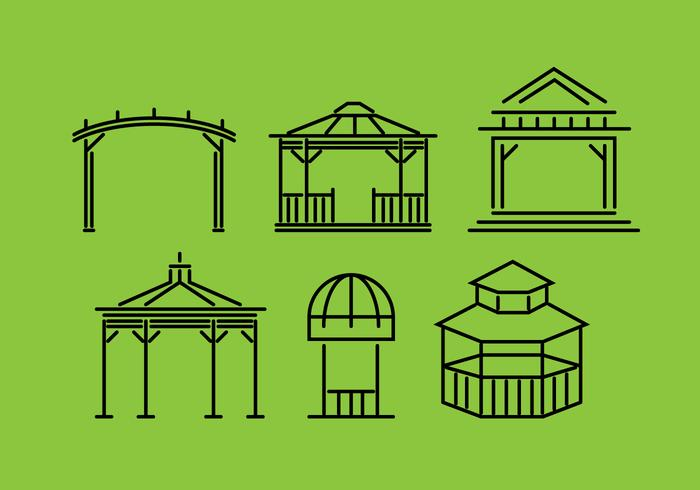 Gazebo Vector Set