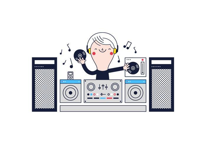Kostenloser DJ-Vektor vektor