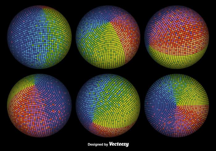 Vector 3D Colorful Spheres