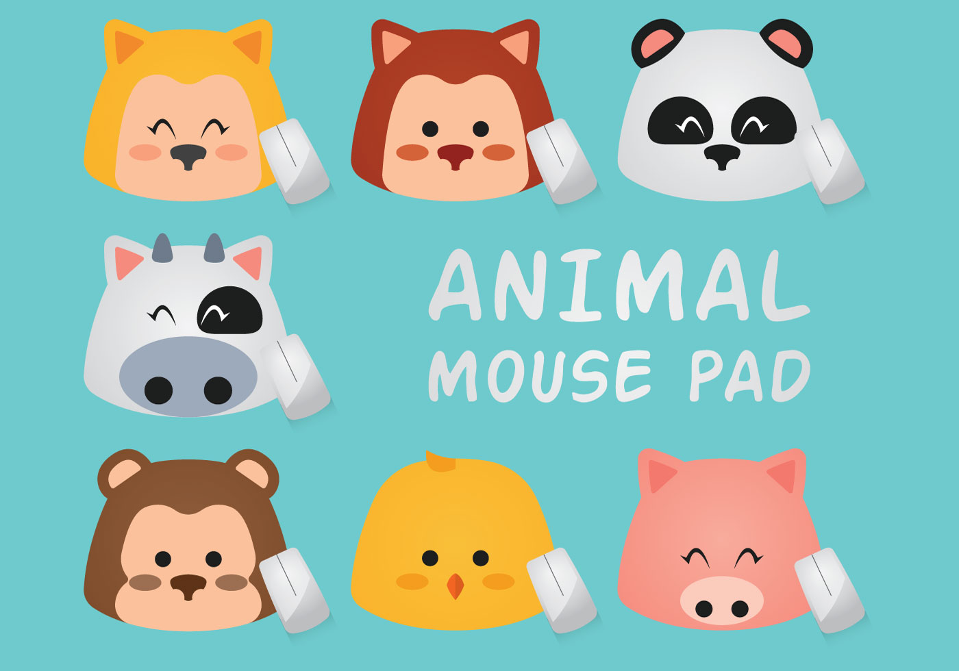 Animal Mouse Pad Download Free Vectors Clipart Graphics