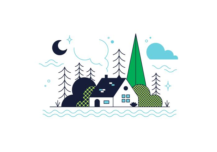 Free Wood House Vector