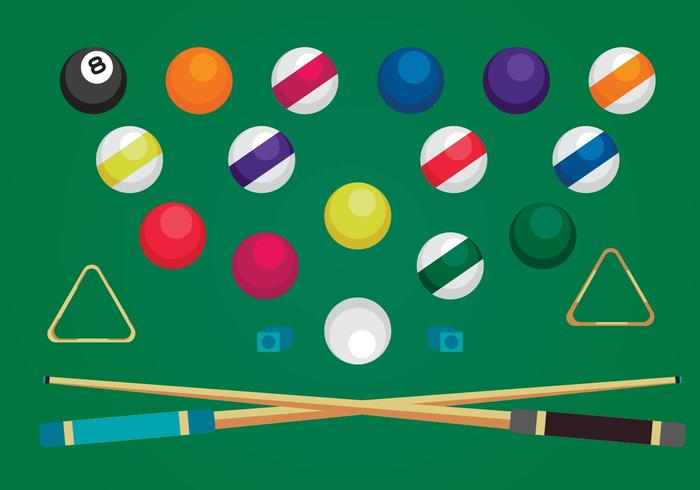 Free Pool Elements Vectors