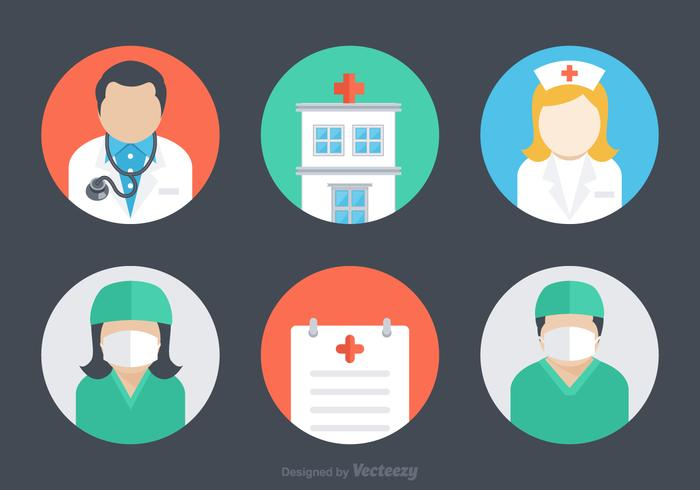 Free Flat Hospital Vector Icons