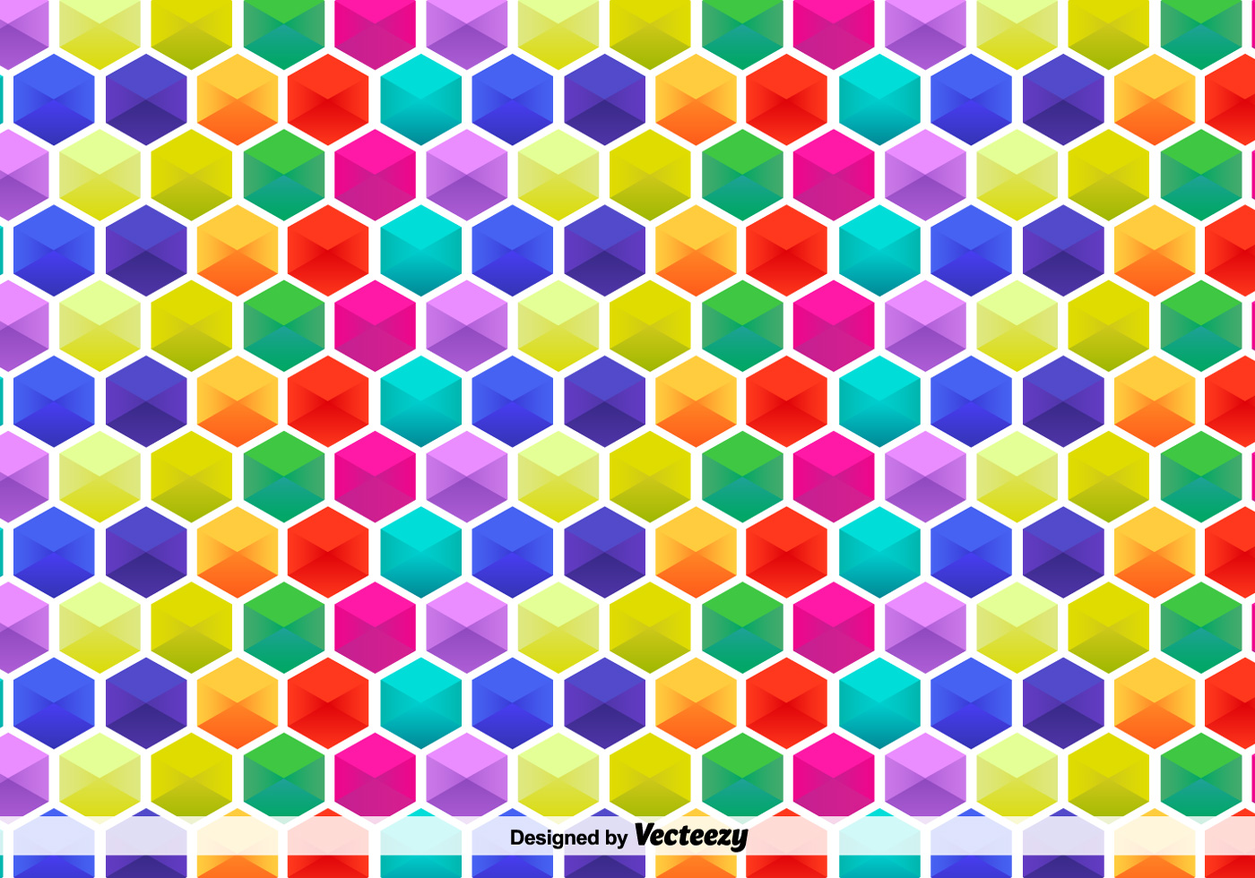 Vector Hexagon Colorful Pattern Download Free Vector Art